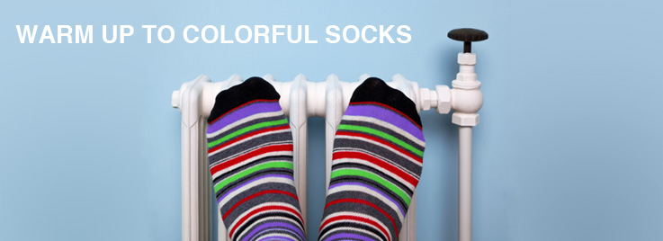 Warm Up to Colorful Socks