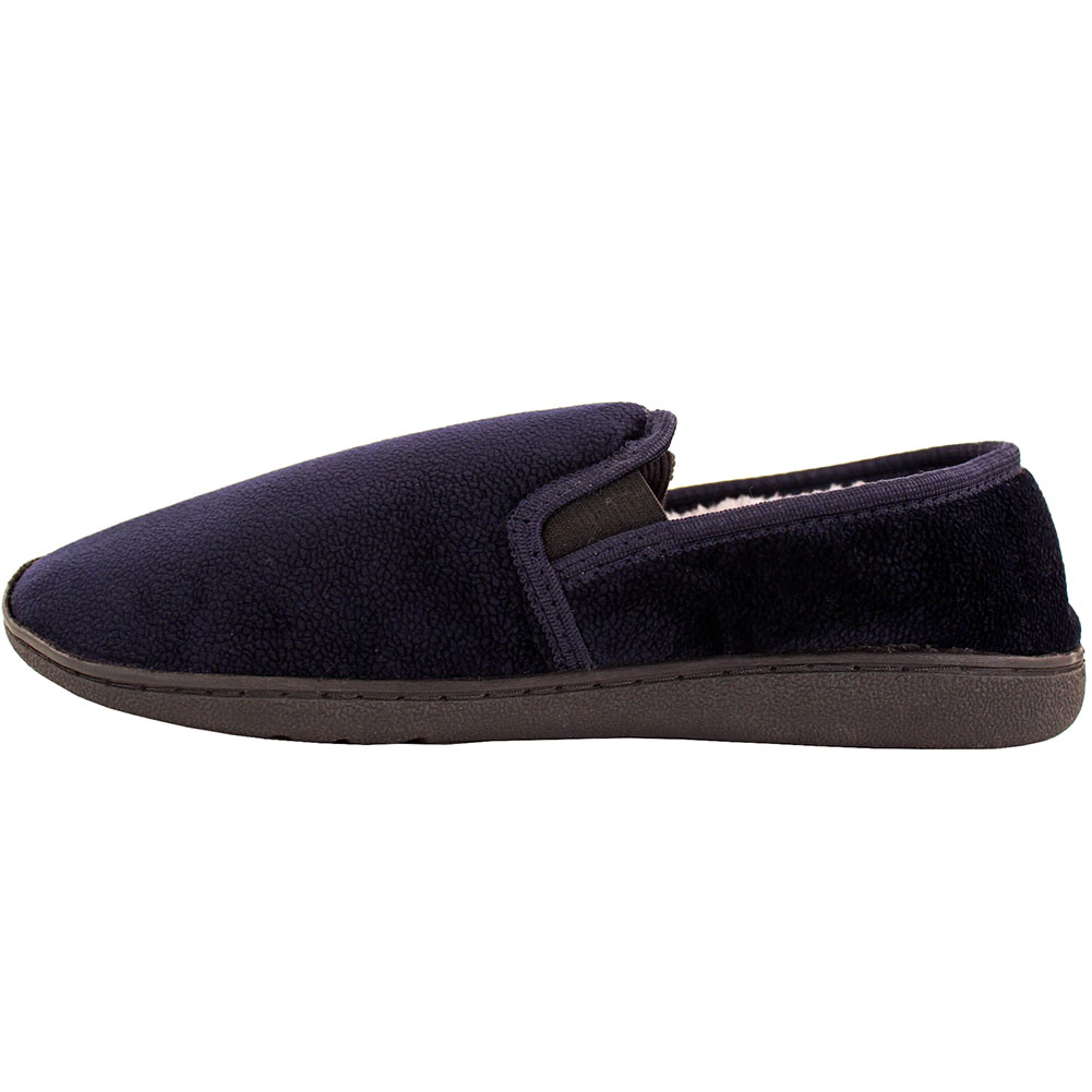 mens slippers house shoes faux fur lined slip on fleece