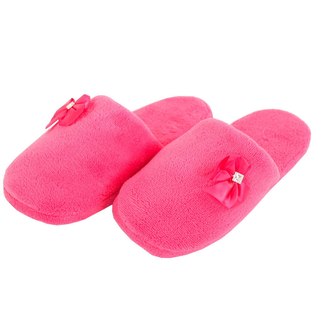 Womens Cozy Plush Slippers House Shoes Fuzzy Slip On Soft ...