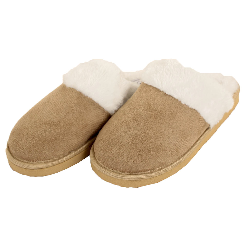 Womens Furry Slippers Faux Suede Fur
