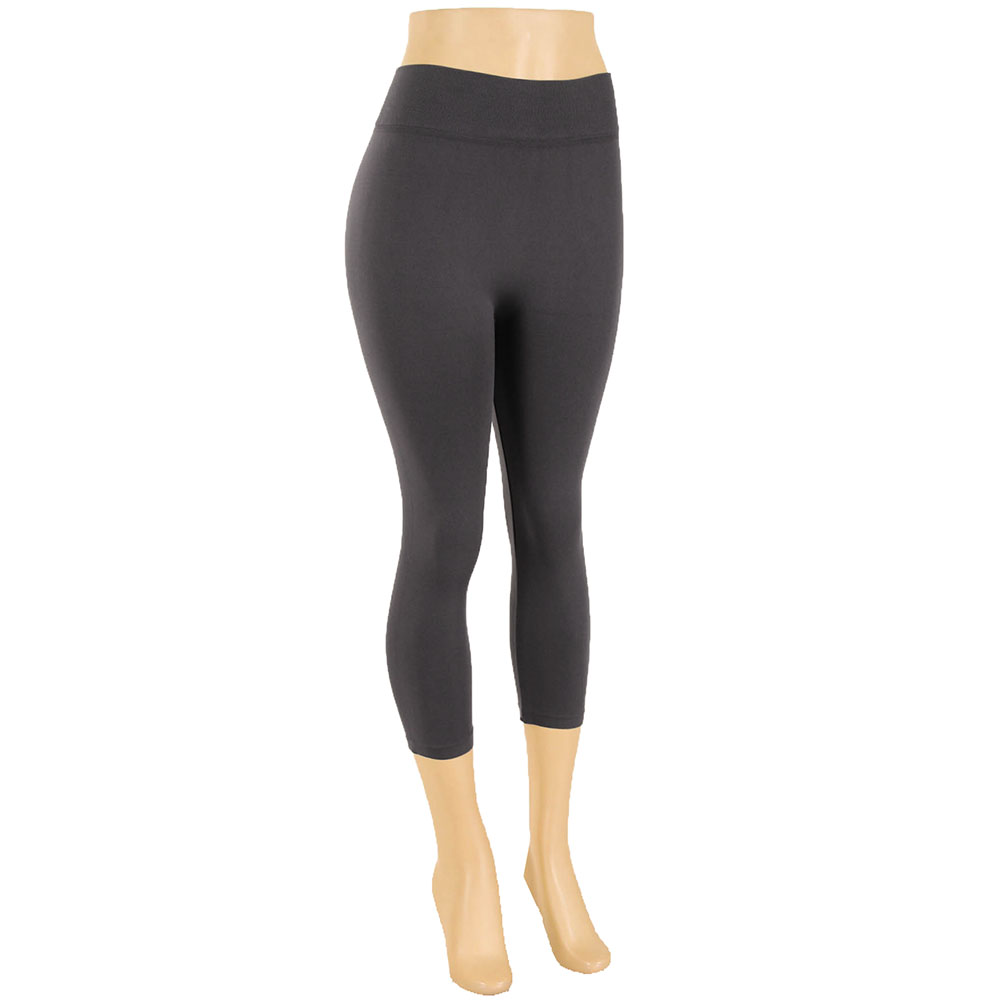 miniature 25 - Femmes Grande Taille Capri Leggings Court Stretch Pantalon Basique Solide Pour