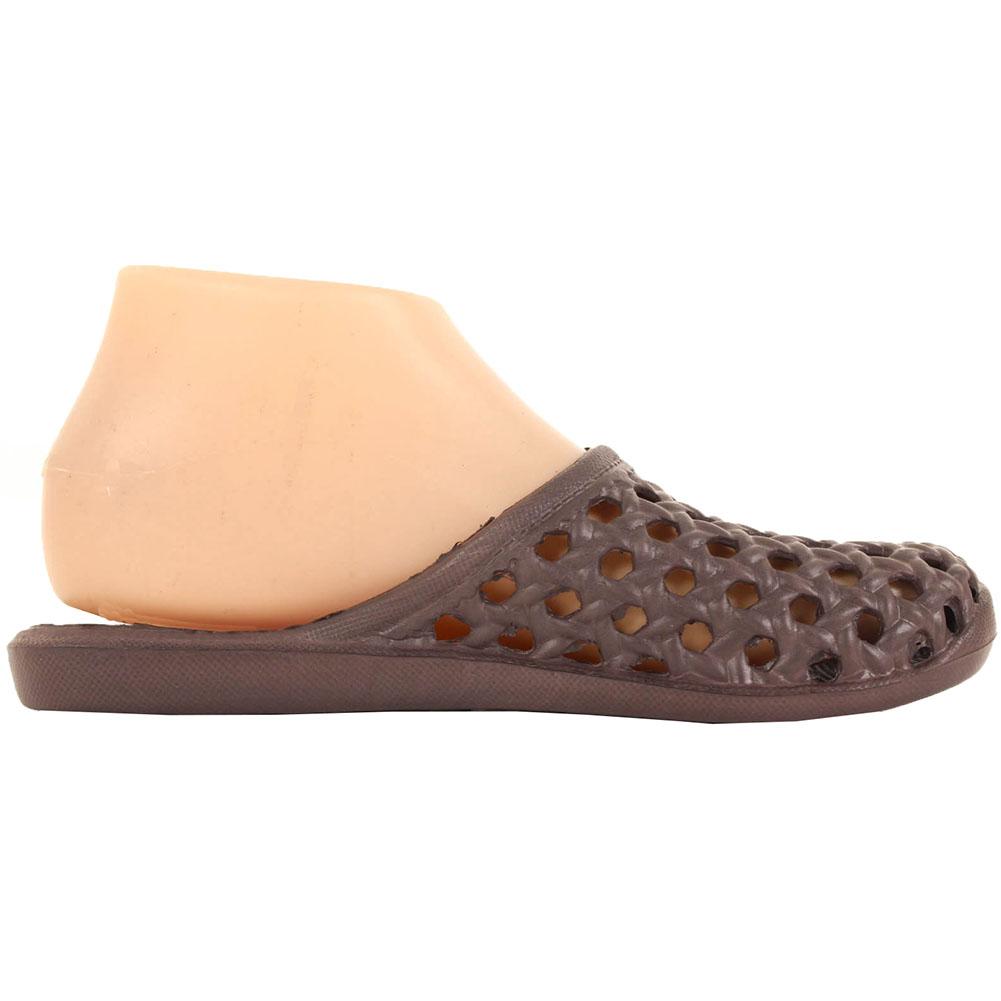 Women Jelly Mule Slip On Sandals Clog Shoes Flat Open Back