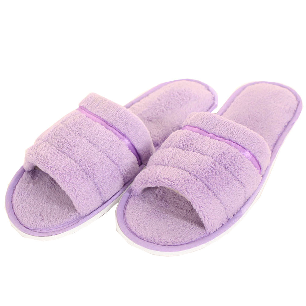 Womens Plush Open Toe Slippers House Shoes Fuzzy Soft Warm
