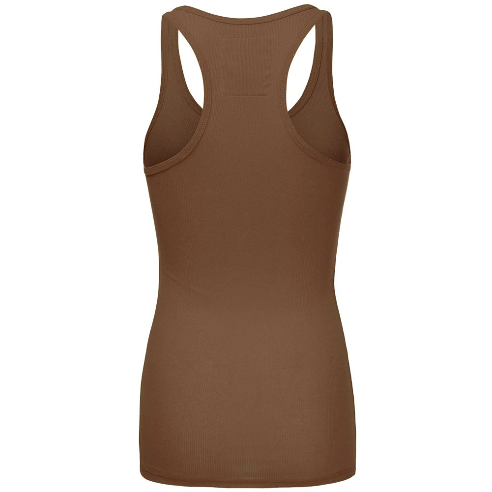 Womens-Racerback-Tank-Top-Ribbed-Athletic-Summer-Basic-Plus-S-M-L thumbnail 15