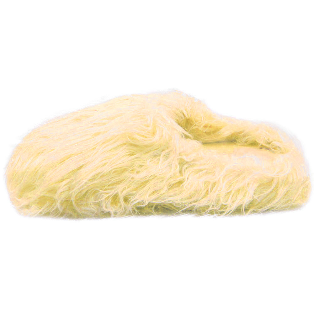 Womens Furry Slippers Indoor Fuzzy Fur Cozy Warm Rubber Sole
