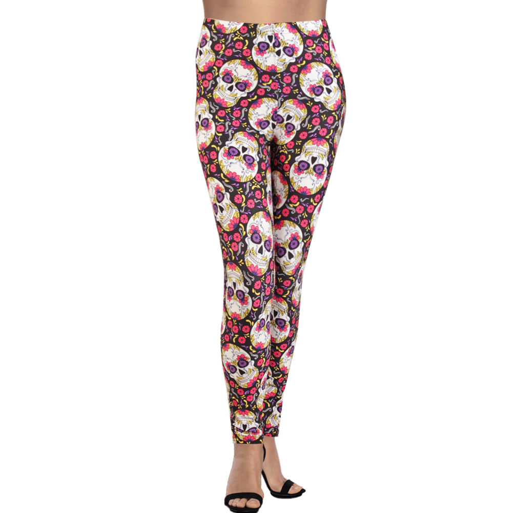 Women/'s Plus Size Printed Leggings Graphic Feather Tie dye Skull feather