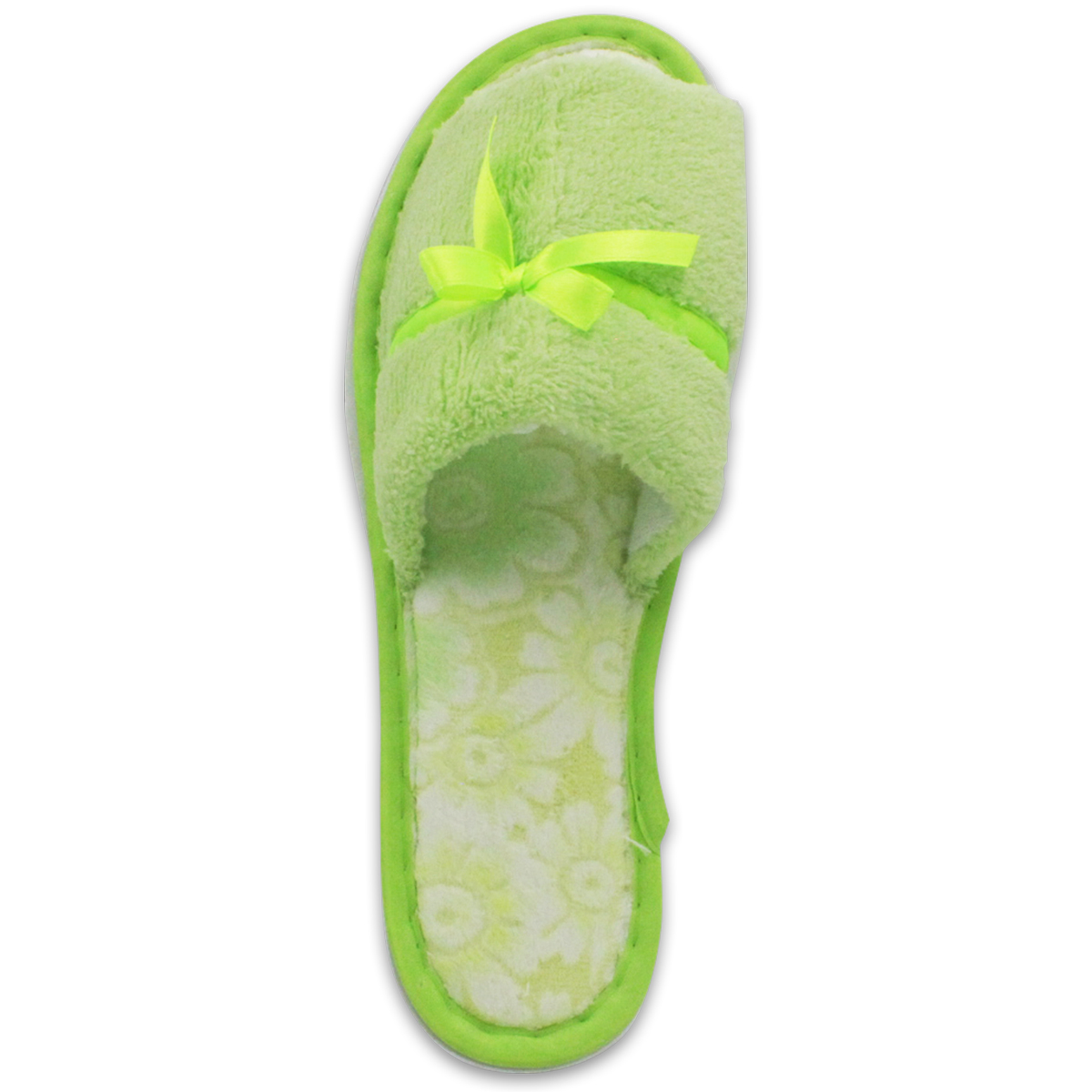Women/'s Plush Open Toe Slippers Soft Comfy Terry Cloth House Shoes