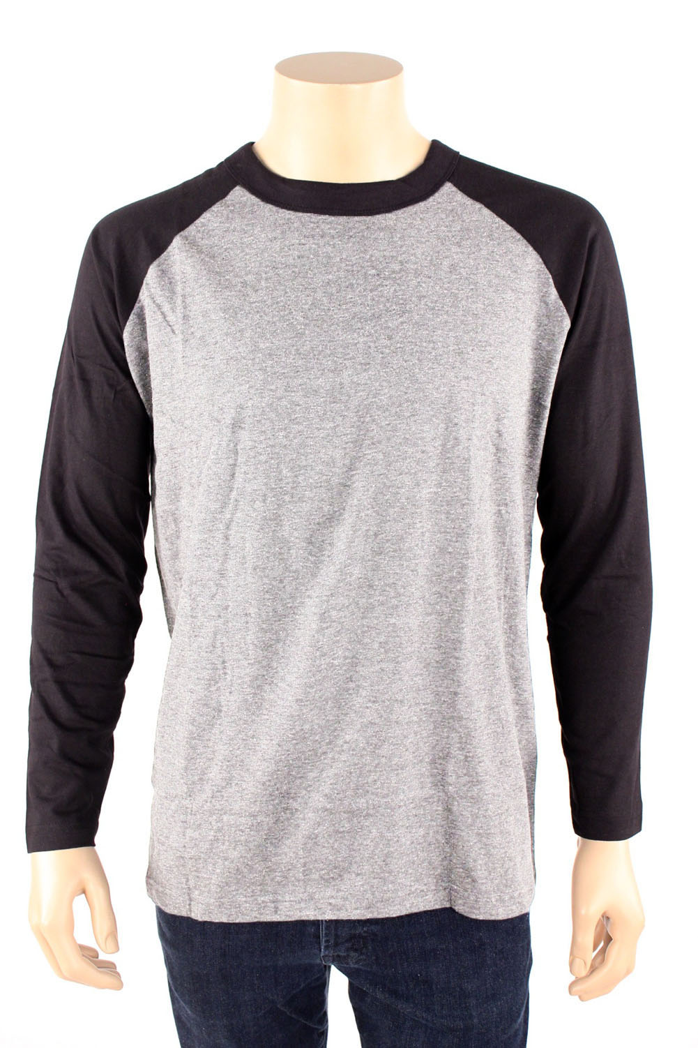 Long Sleeve Baseball T Shirt Jersey 100 Cotton Raglan Tee
