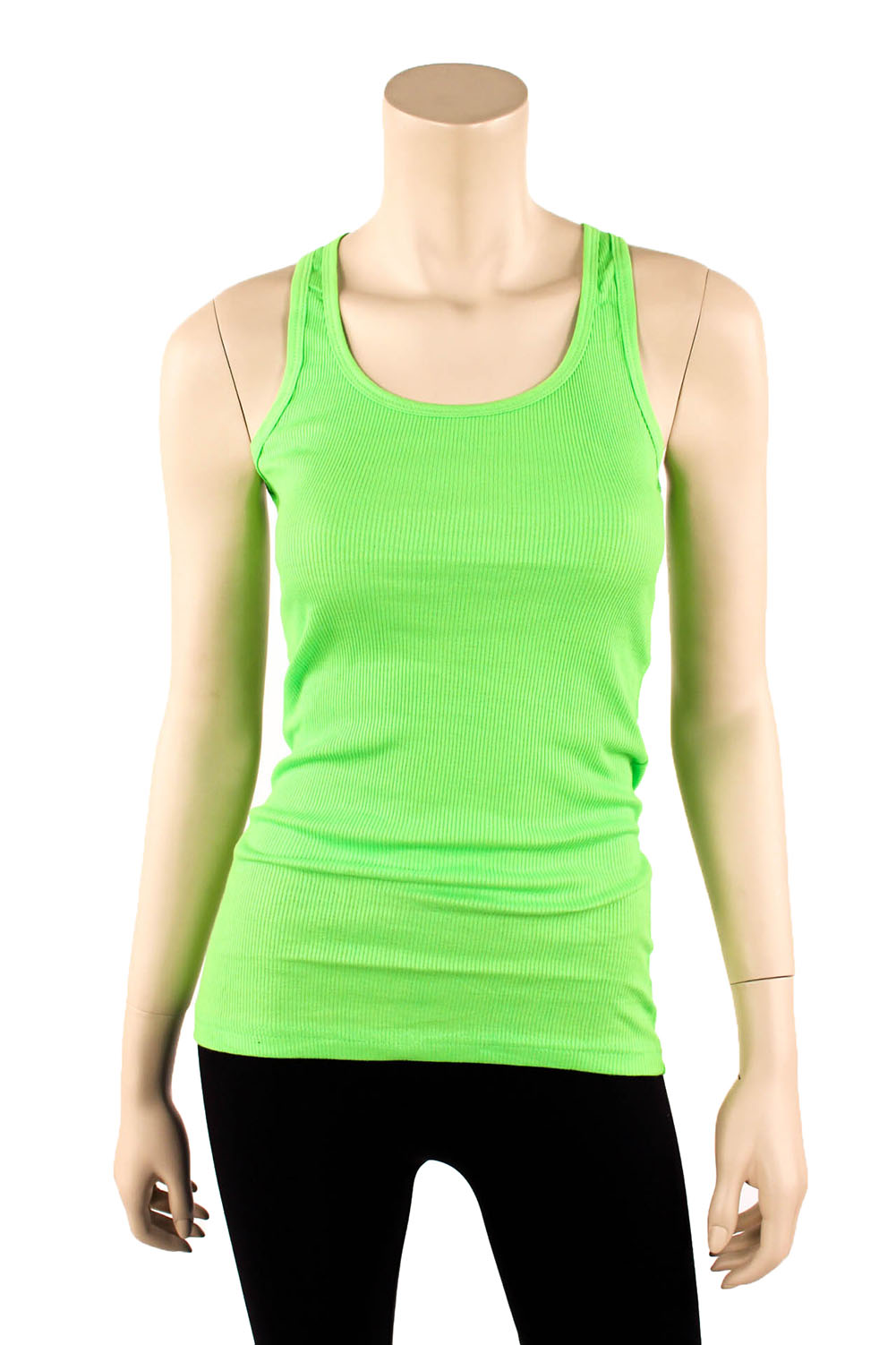 Womens-Tank-Top-100-Cotton-Heavy-Weight-Ribbed-A-Shirt-Basic-Workout-S-M-L-XL