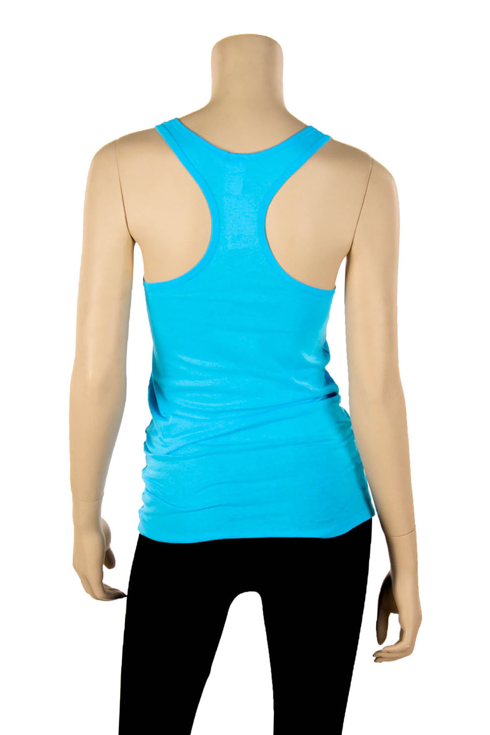 Womens-100-Cotton-Racerback-Tank-Top-Basic-Cami-Solid-Tee-Shirt-Workout-S-M-L thumbnail 3