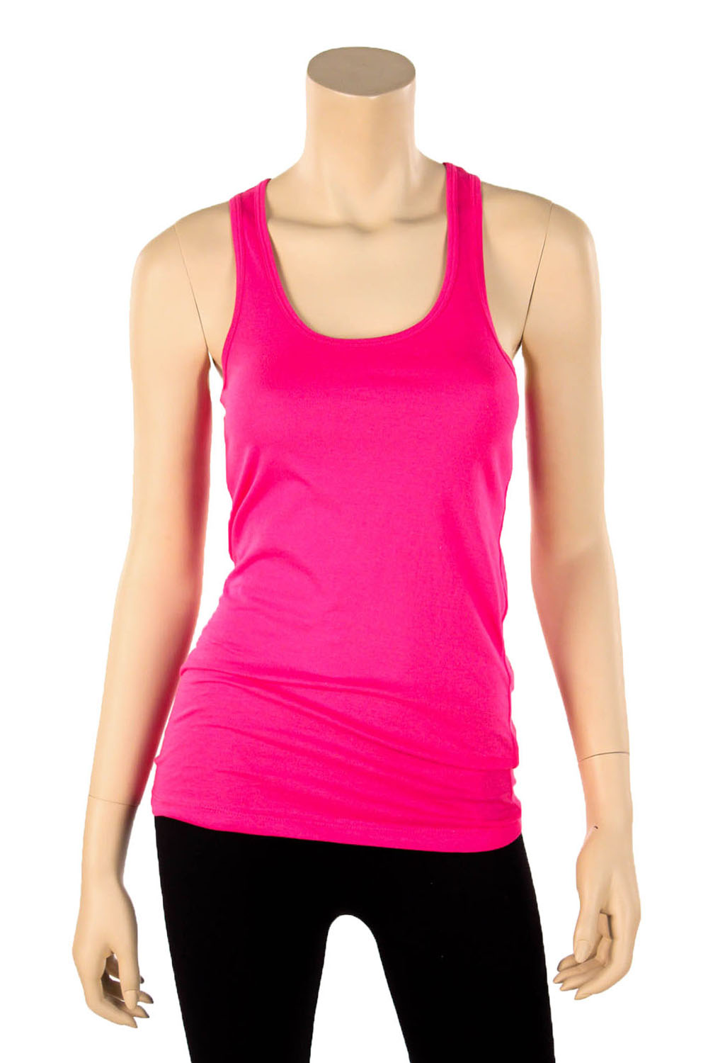Womens 100 Cotton Racerback Tank Top Basic Cami Solid Tee