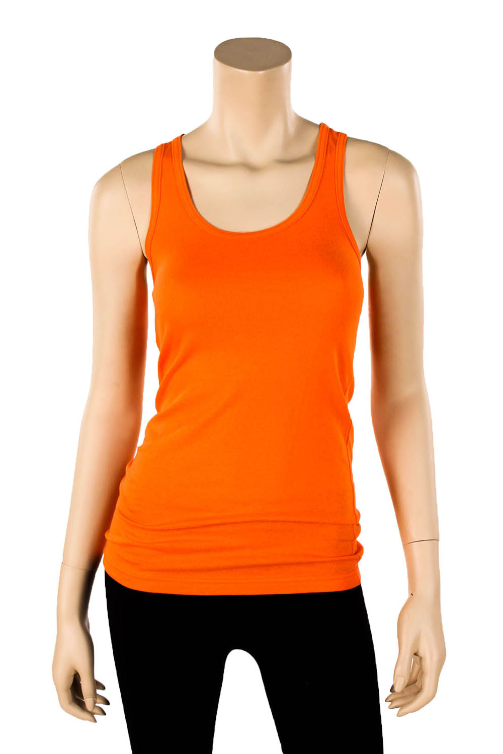 Womens 100 cotton racerback tank top basic cami solid tee for Best work out shirts