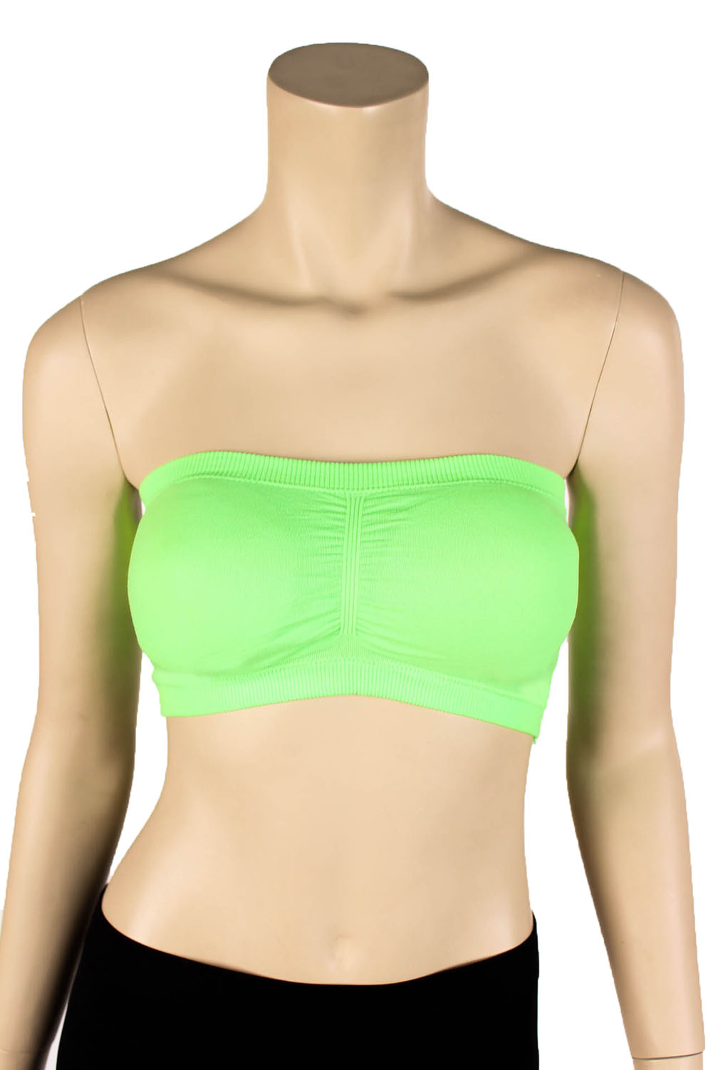 Womens Strapless Padded Bra Bandeau Tube Top Removable ...