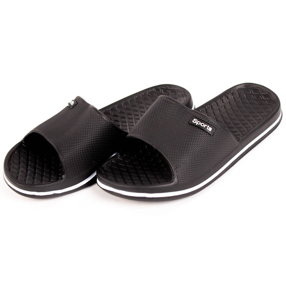 527ee63314529f Mens Slip On Sport Slide Sandals Flip Flop Shower Shoes Slippers House Pool  Gym