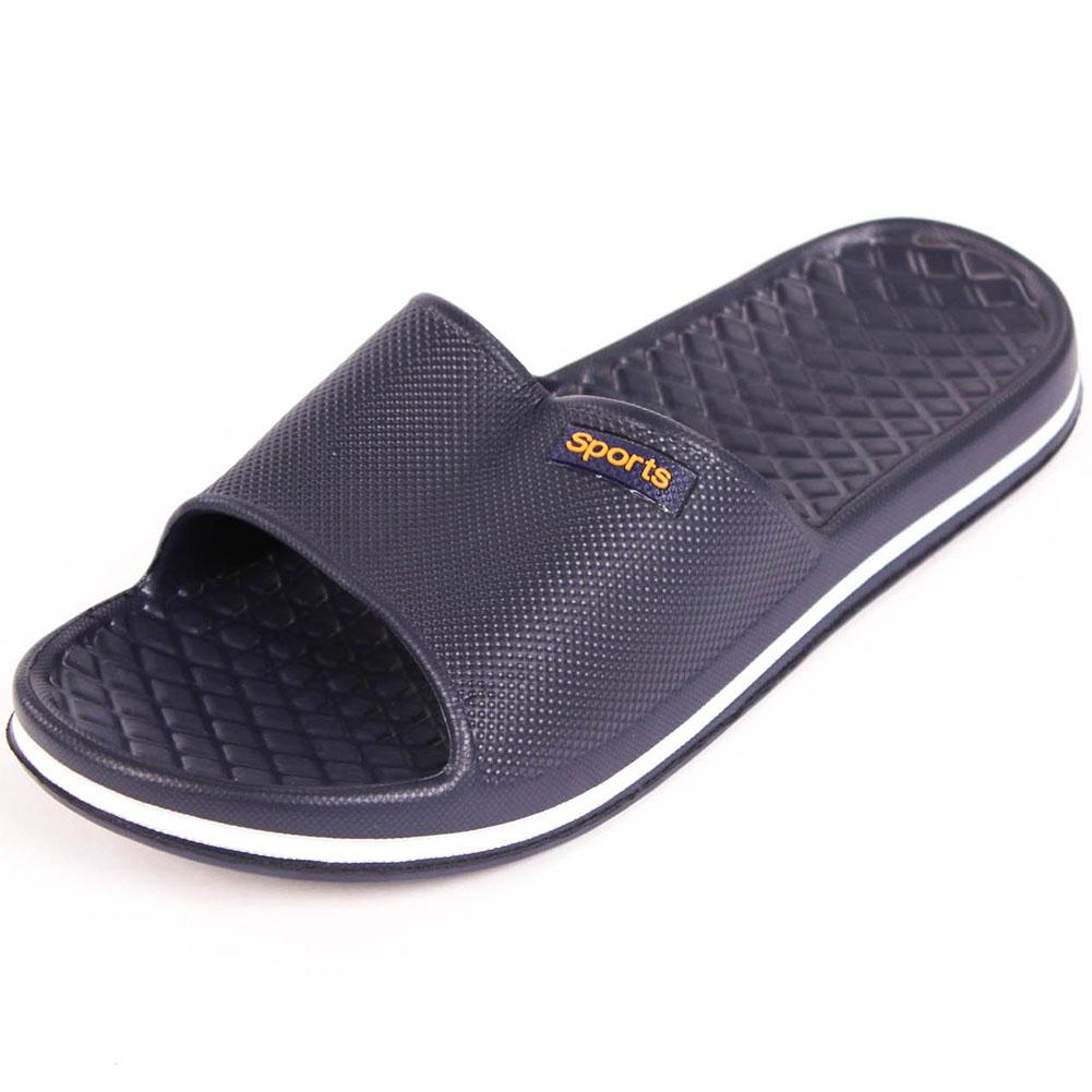 6a4252f03ba5 Mens Slip On Sport Slide Sandals Flip Flop Shower Shoes Slippers ...