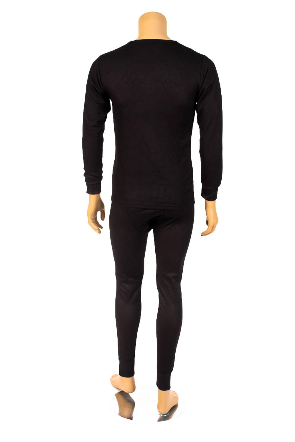 Mens-2pc-Thermal-Underwear-Set-Long-Johns-Waffle-Knit-Top-Bottom-S-M-L-XL-2X-3X