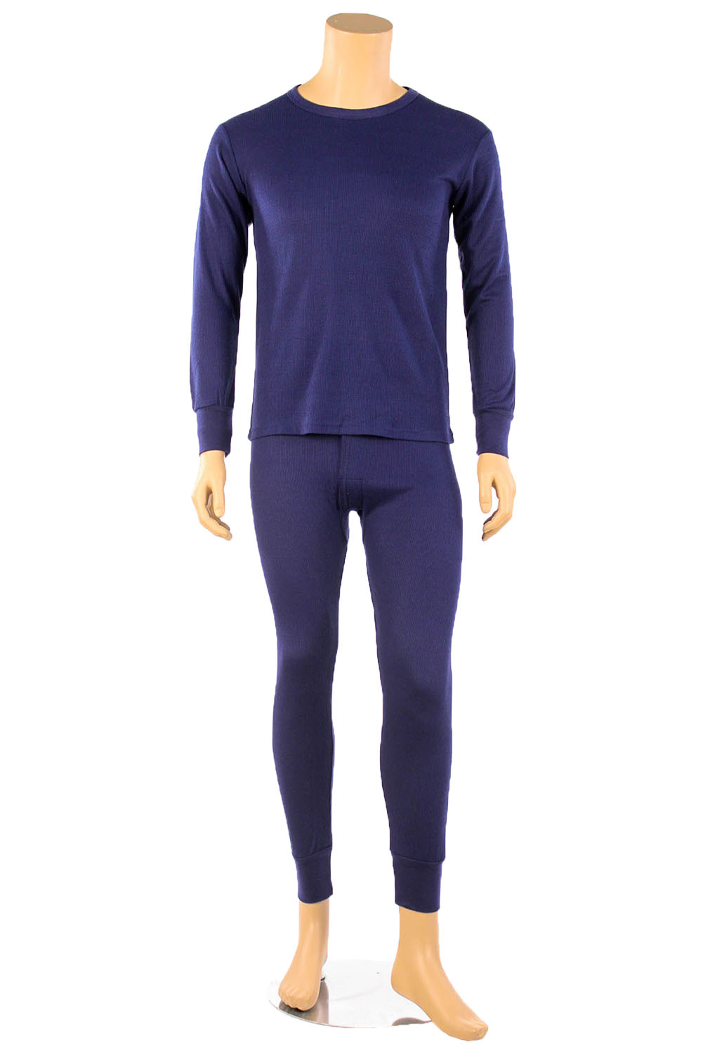 Mens 2pc 100% COTTON Thermal Underwear Set Long Johns Top &amp ...