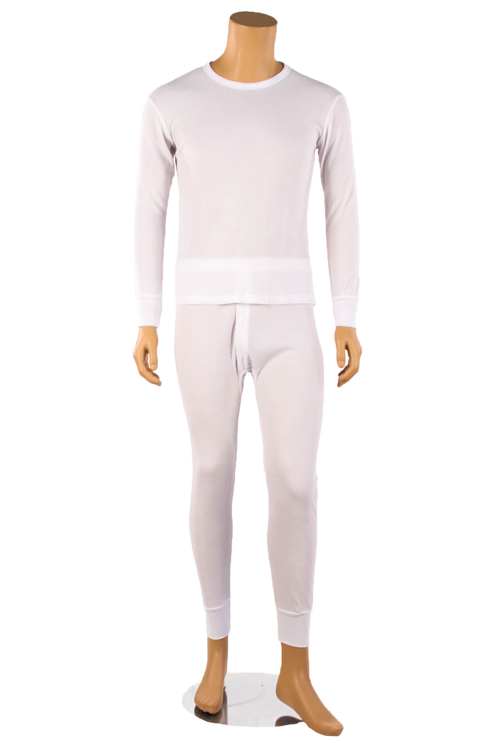 Mens 2pc 100% COTTON Thermal Underwear Set Long Johns Top & Bottom ...