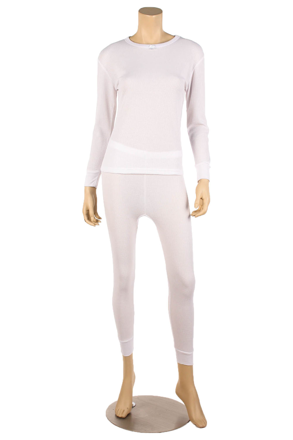 Womens 2pc 100% Cotton Thermal Underwear Set Long Johns Top &amp ...