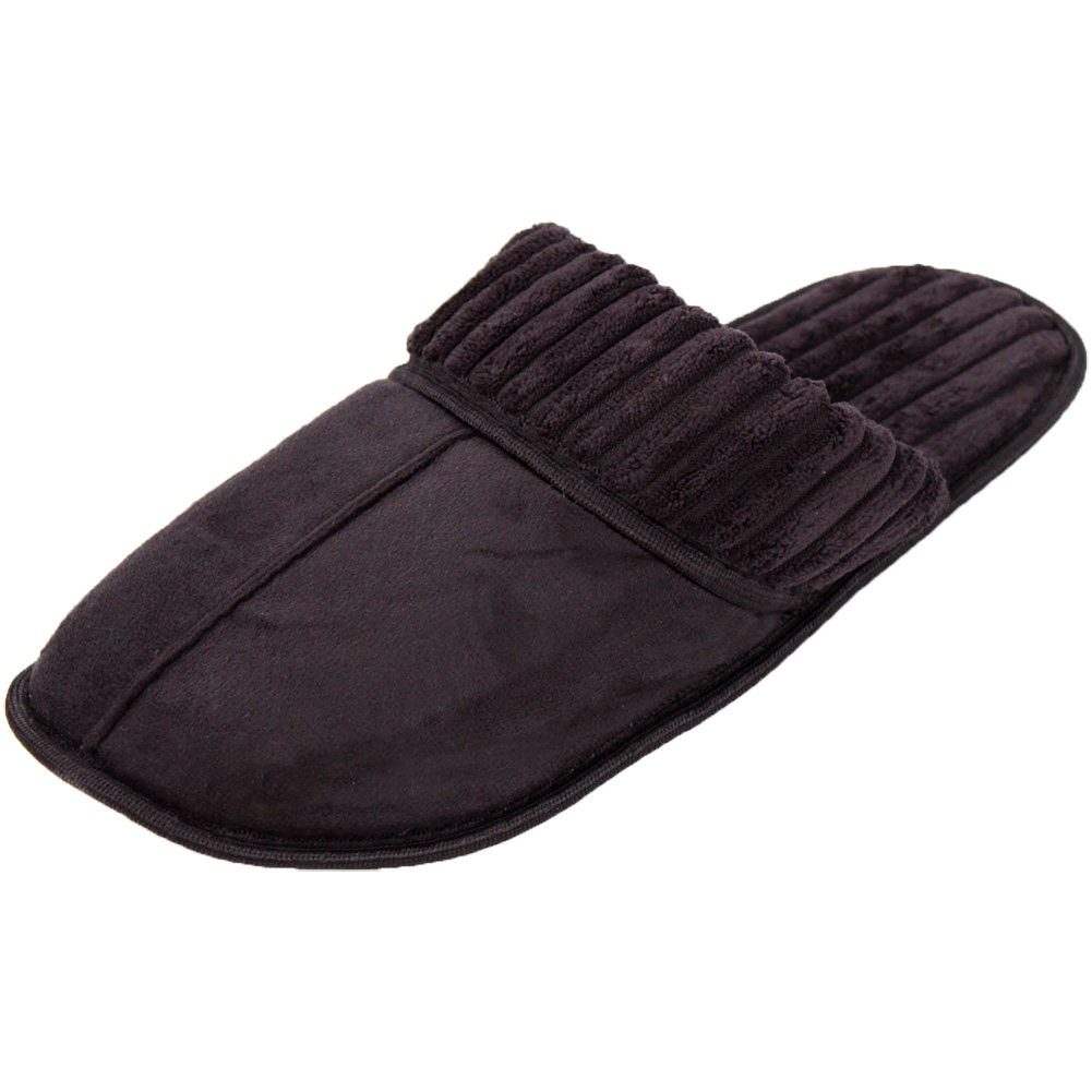 Mens Slippers Slip On House Shoe Scuff Fleece Faux Suede Clog Indoor Outdoor New | EBay