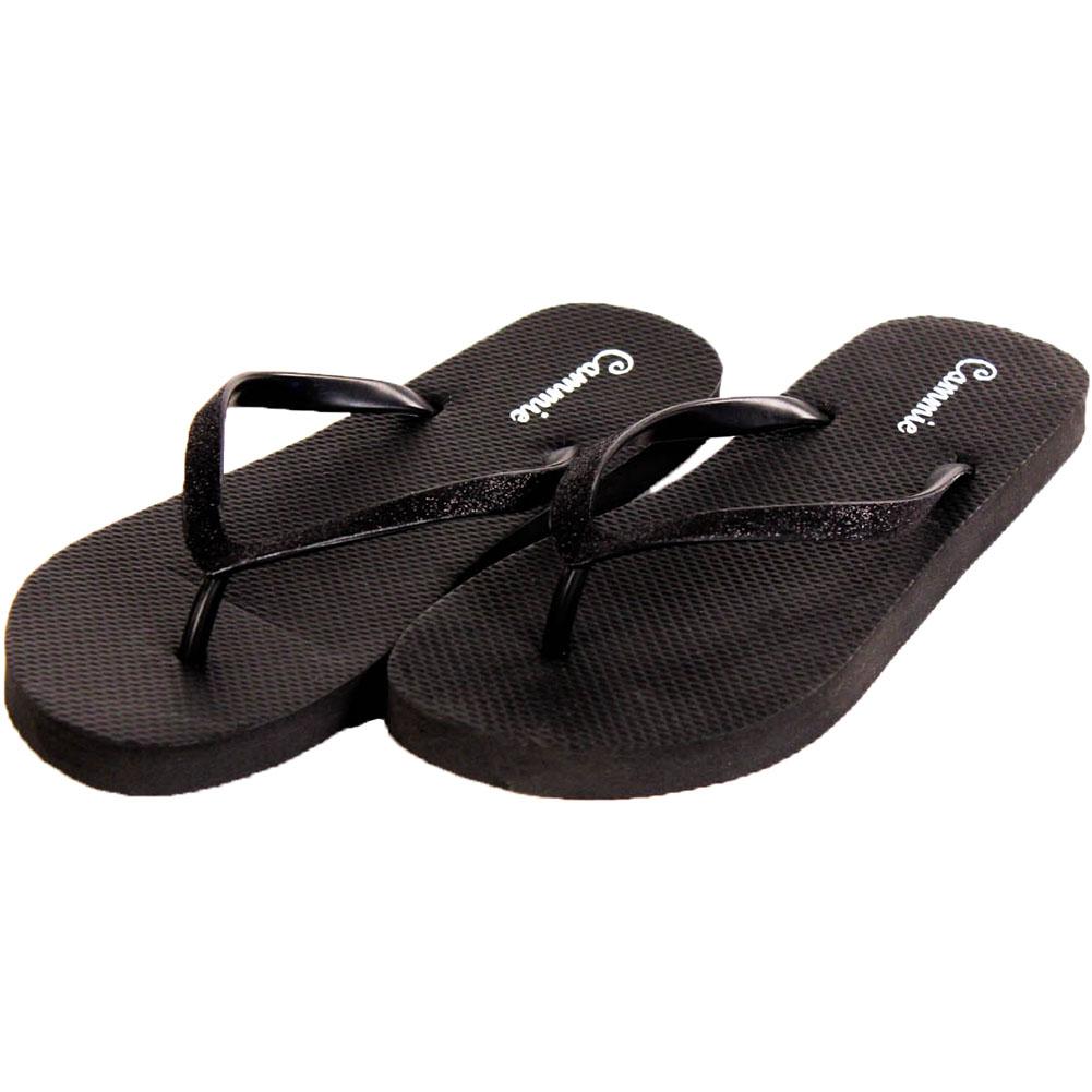new womens flip flop sandals glitter thong strap comfort. Black Bedroom Furniture Sets. Home Design Ideas
