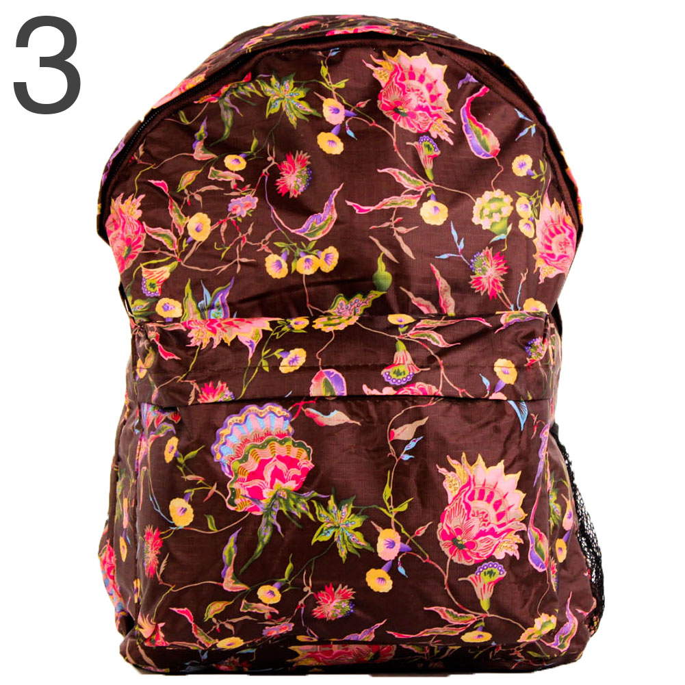 colorful print backpack fashion book bag school student