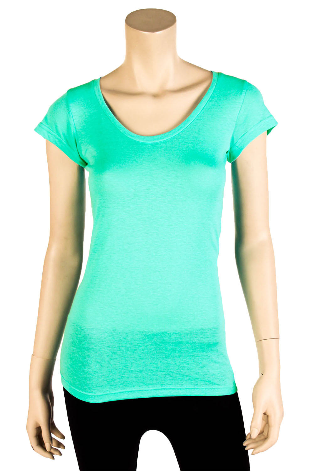 Womens basic tee t shirt short sleeve round crew neck for Solid color short sleeve dress shirts
