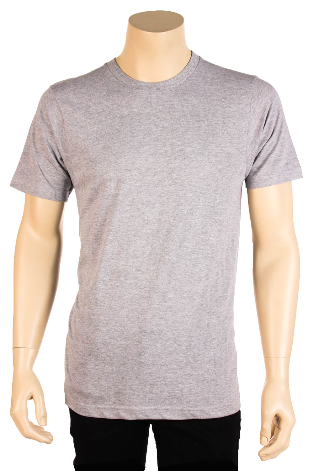 Mens 100 cotton tee t shirt crew neck lightweight basic for Mens 100 cotton t shirts