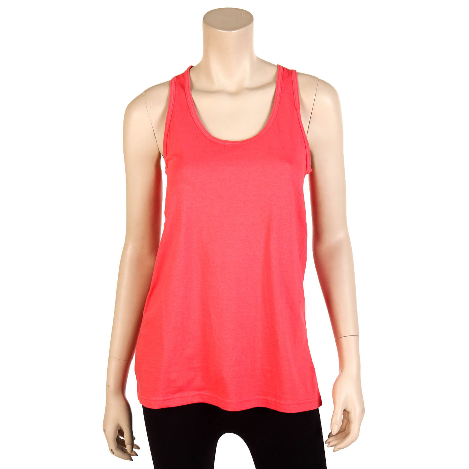 Womens Loose Fit Tank Top Scalloped Trim 100/% Cotton Relaxed Flowy Basic S M L