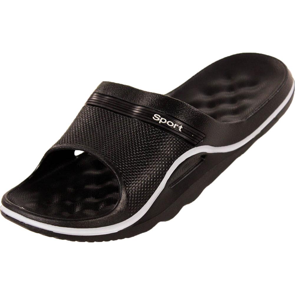 mens slip on sandals sport slide shower shoes