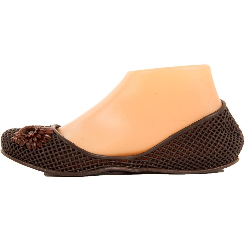 womens jelly ballet flats flower slip on shoe