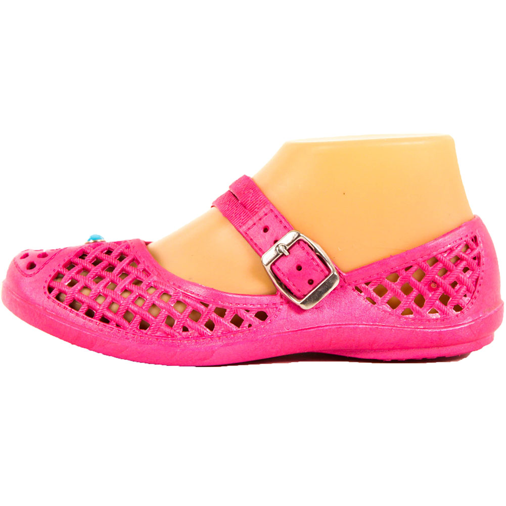 814305437101 Womens Jelly Mary Jane Shoes Crochet Hollow Plastic Rubber Sandals ...