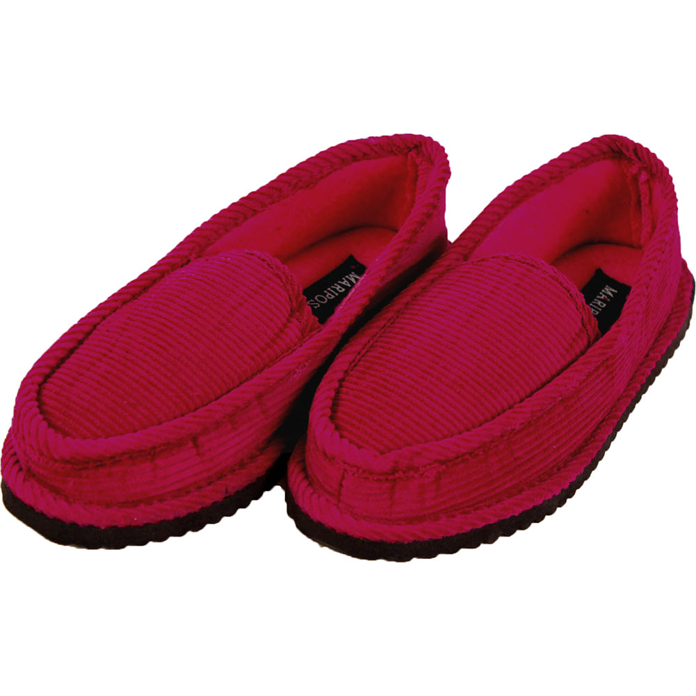 Womens Corduroy Slippers House Shoes Moccasin Slip On ...