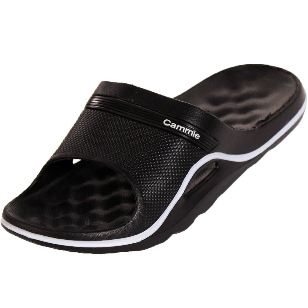 2ab655716818 Womens Cushion Slip On Sandals Slides House Shoes Flip Flop Water ...