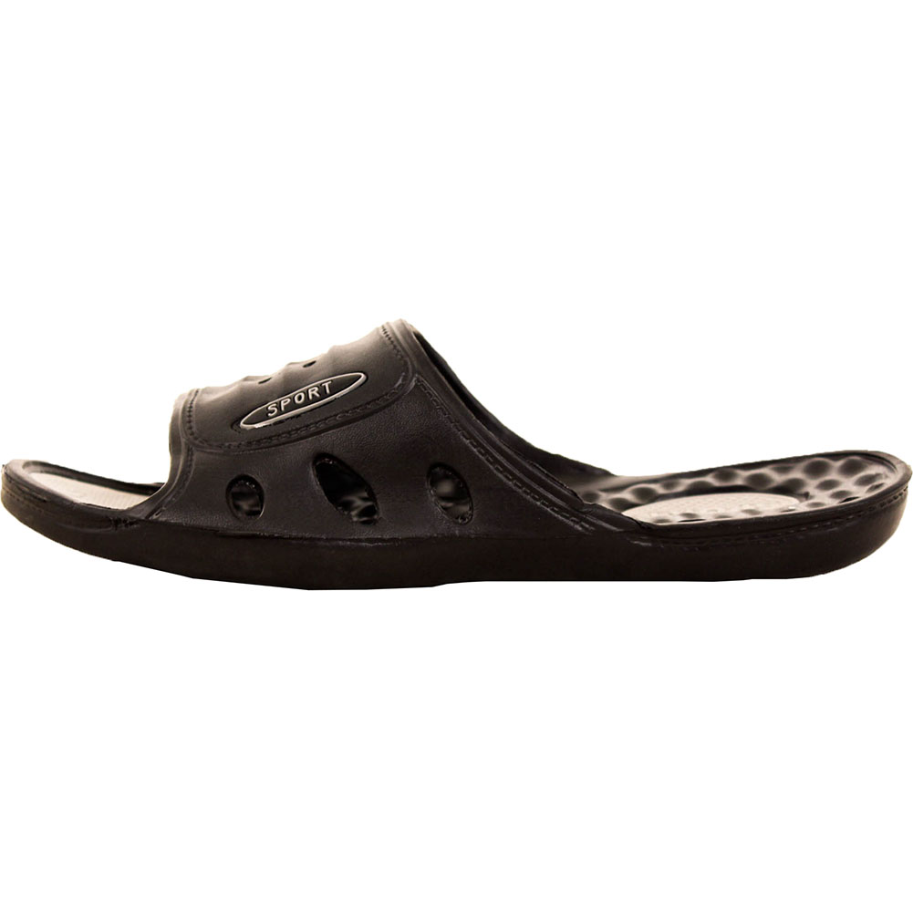 mens vented cushion sandals slip on flip flop sport slide