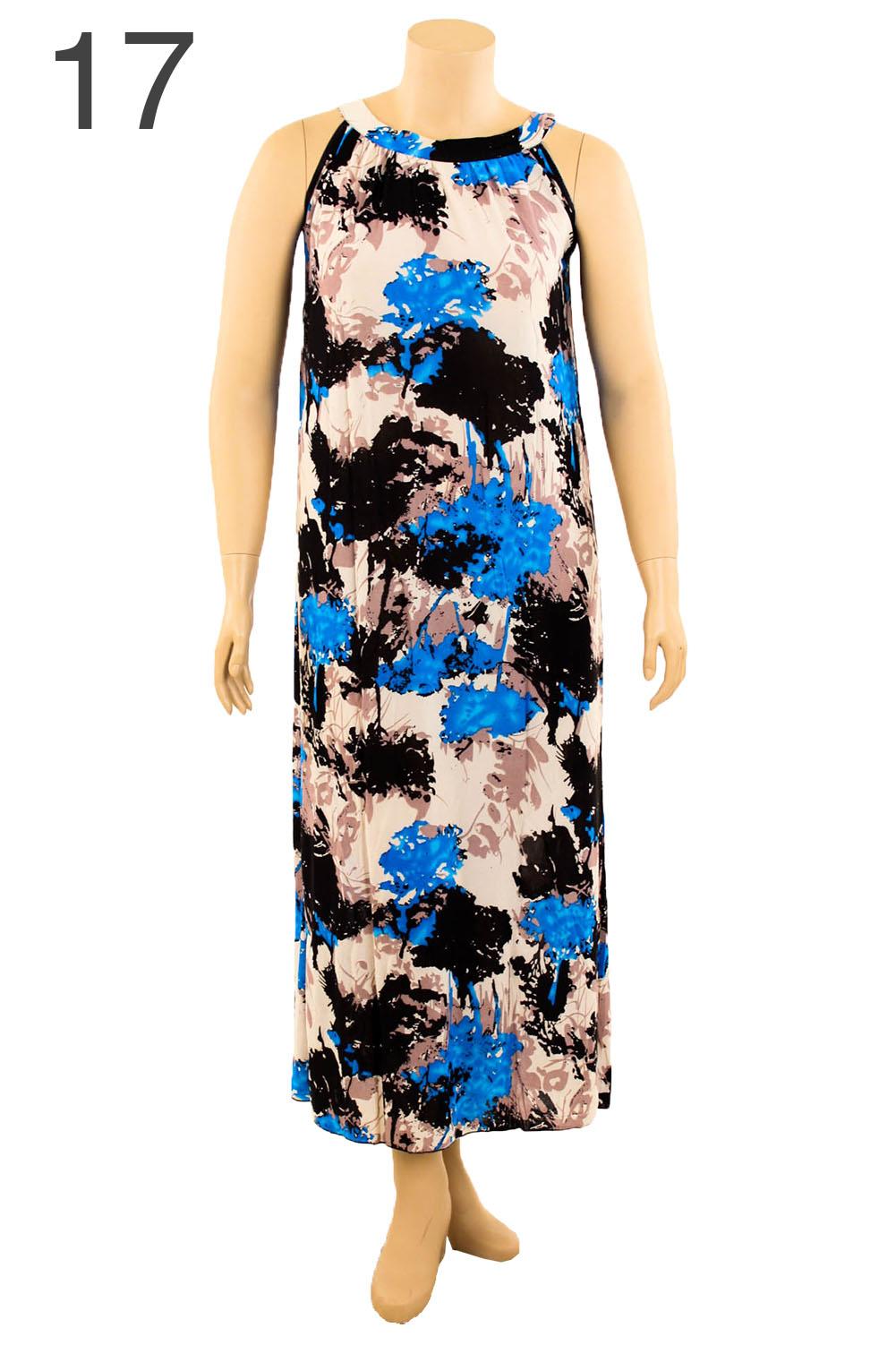 Womens Plus Size Printed Dress Long Maxi Sundress Boho Summer