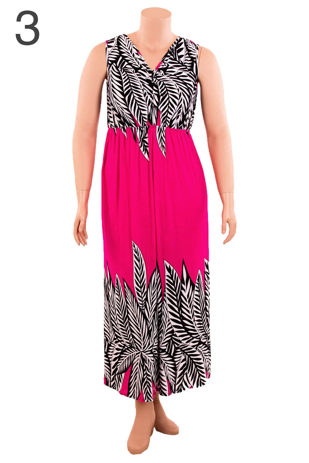 Womens Plus Size Printed Dress Long Maxi Sundress Boho ...