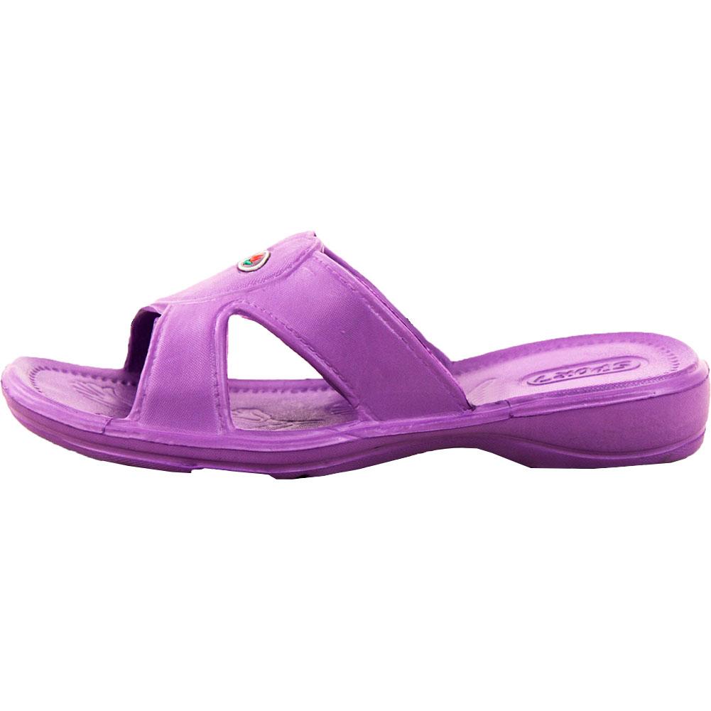 Unique G.I.L.I. Hildie Women Leather Black Slides Sandal Sandals