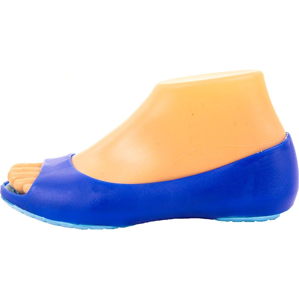 womens cushion sole jelly ballet flats shoes open toe