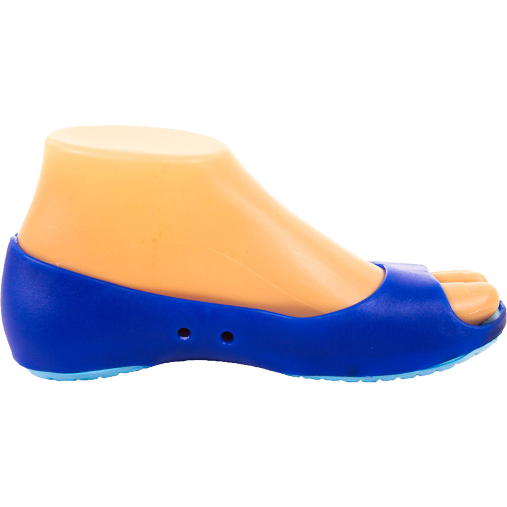Womens-Cushion-Sole-Jelly-Ballet-Flats-Shoes-Open-Toe-Sandal-Plastic-Slip-On-New thumbnail 16