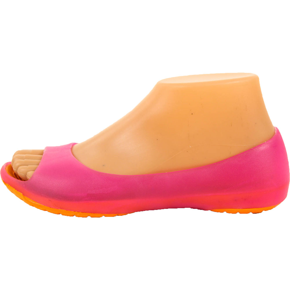 Womens-Cushion-Sole-Jelly-Ballet-Flats-Shoes-Open-Toe-Sandal-Plastic-Slip-On-New thumbnail 9