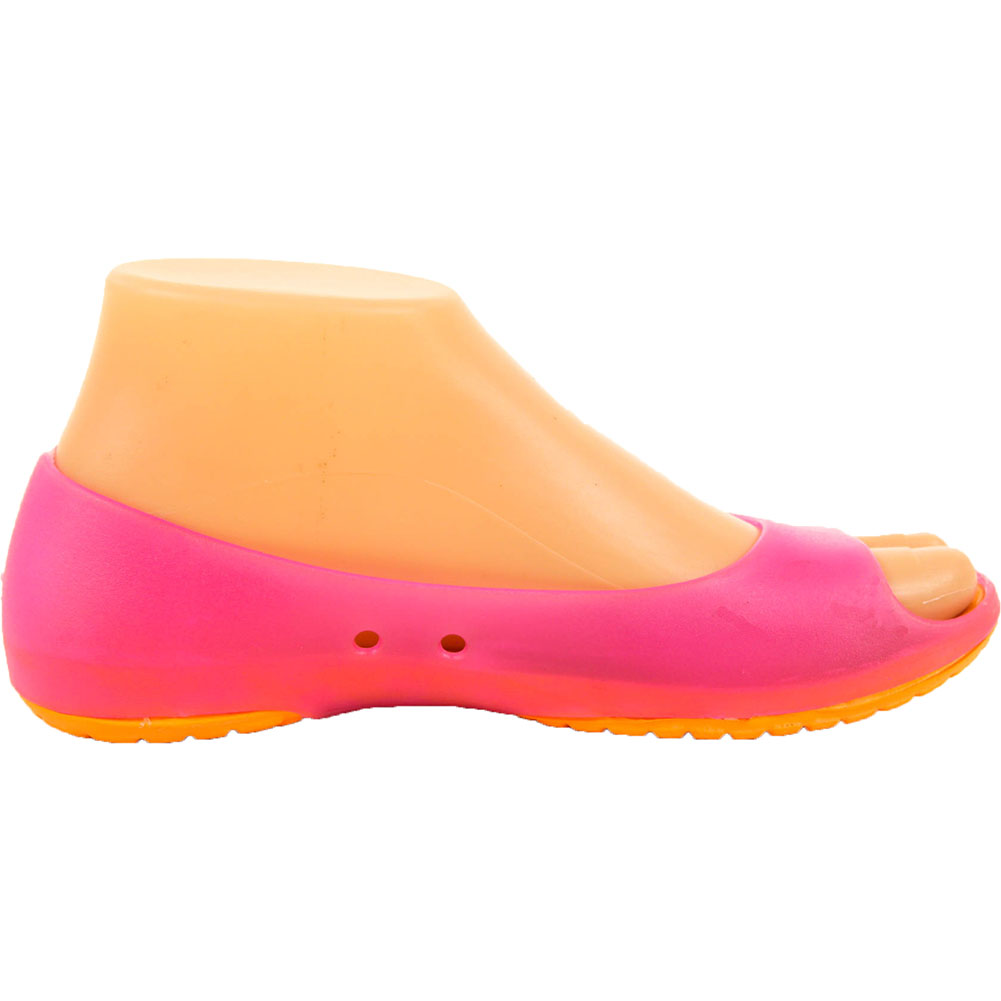Womens-Cushion-Sole-Jelly-Ballet-Flats-Shoes-Open-Toe-Sandal-Plastic-Slip-On-New thumbnail 10