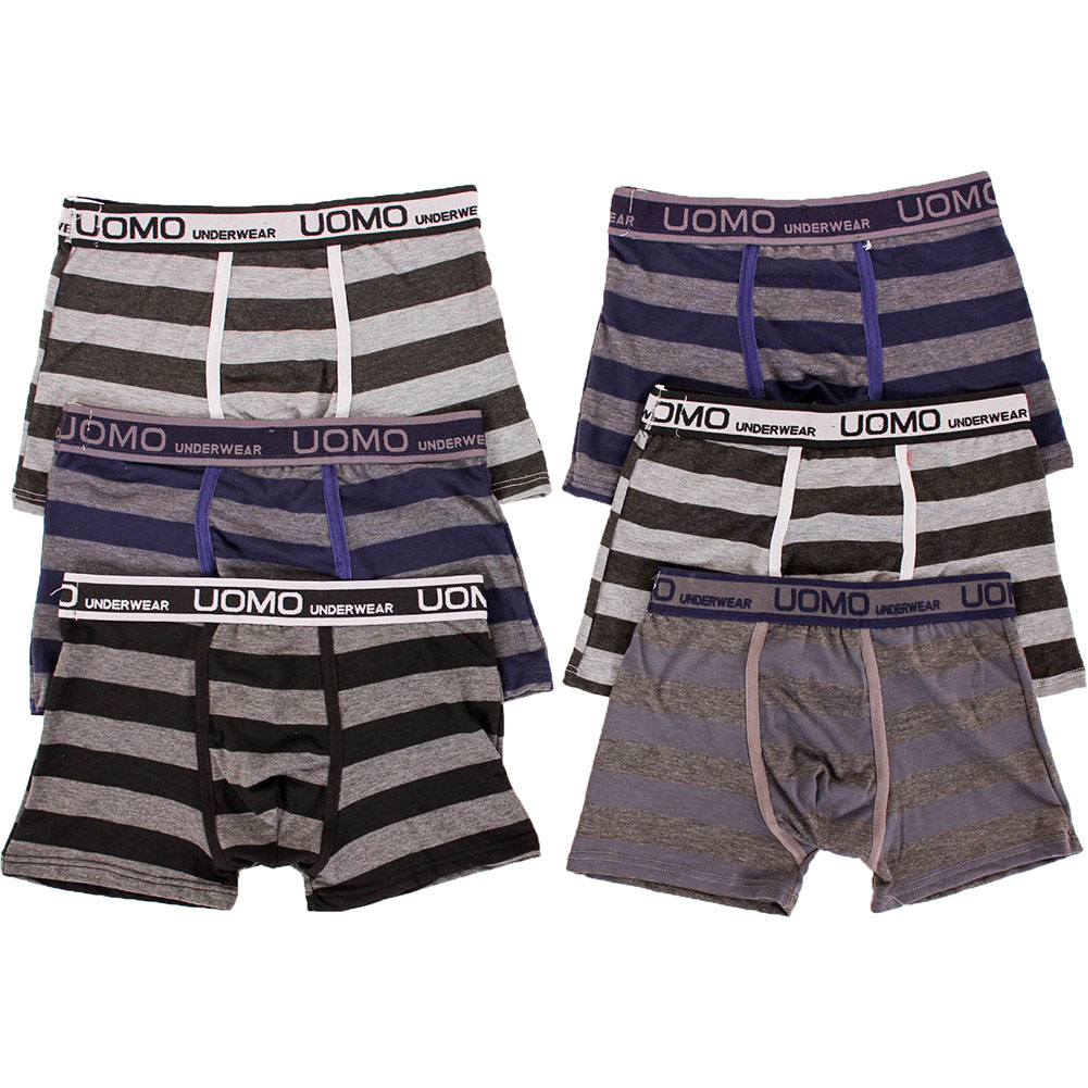 6-Mens-Boxer-Briefs-Underwear-Stretch-Fashion-Trunk-Short-Bulge-Lot-M-L-XL-2X-3X