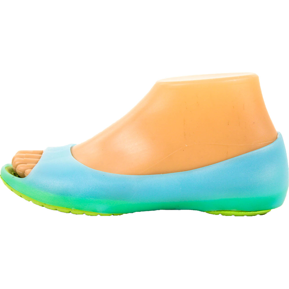 Womens-Cushion-Sole-Jelly-Ballet-Flats-Shoes-Open-Toe-Sandal-Plastic-Slip-On-New thumbnail 6