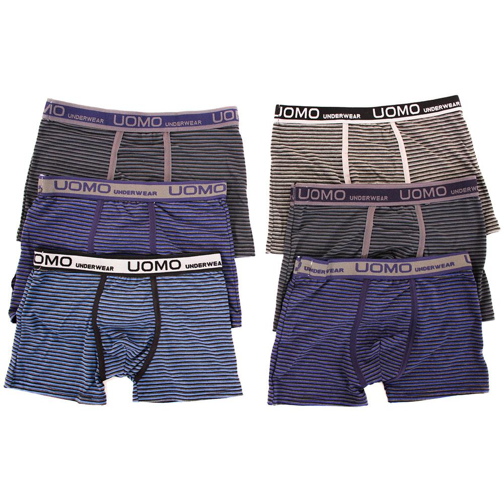 6-Mens-Boxer-Briefs-Underwear-Stretch-Fashion-Trunk-Short-Bulge-Lot-M-L-XL-2X-3X
