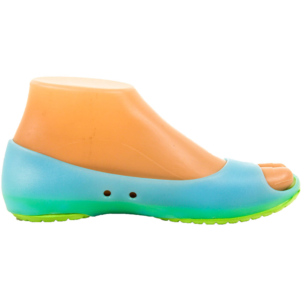 Womens-Cushion-Sole-Jelly-Ballet-Flats-Shoes-Open-Toe-Sandal-Plastic-Slip-On-New thumbnail 7