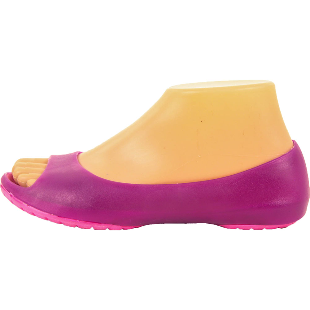 Womens-Cushion-Sole-Jelly-Ballet-Flats-Shoes-Open-Toe-Sandal-Plastic-Slip-On-New thumbnail 12